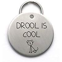 Sale 14 0 Funny Dog Tag Drool Is Cool Stainless Steel