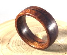 Mens Ring Wooden Ring Mens Wood Ring Koa wood by WOODintheHOOD