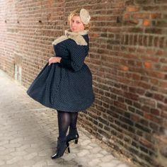 Miss Kittenheel vintage plus size style volume dots