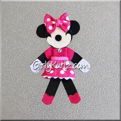CALIENTE rosa Minnie Mouse pelo Clip Hair Minnie por GirlyKurlz