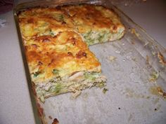 Ginny's Low Carb Kitchen: Chicken and Broccoli Quiche with Parmesan Topping. Subbed Greek yogurt for the mayo, cook for hour Dukan Diet Recipes, Banting Recipes, No Carb Recipes, Low Carb Chicken Recipes, Healthy Eating Recipes, Cooking Recipes, Diabetic Recipes, Healthy Eats, Healthy Foods