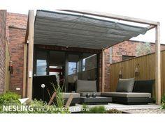 leuk zelfmaak idee voor in de tuin in plaats van een traditioneel zonnescherm.