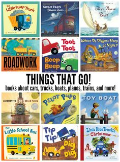 Things that GO! Our favorite books about planes, trains, cars, trucks, and more! // One Lovely Life