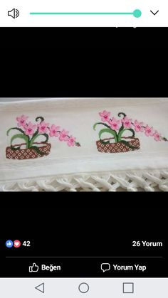 Cross Stitch Embroidery, Hand Embroidery, Palestinian Embroidery, Bargello, Flower Basket, Blackwork, Elsa, Needlework, Diy And Crafts