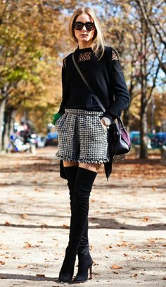 Olivia Palermo looks fabulous in these Over-The-Knee boots!