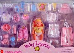 Amazon.com: Barbie KRISSY BABY LAYETTE Doll & Accessories Set (1999): Toys & Games