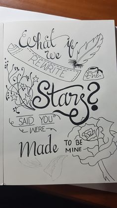 Lettering and doodle Lyric Drawings, Tumblr Drawings, Cool Art Drawings, Pencil Art Drawings, Easy Drawings, Art Sketches, Calligraphy Quotes Doodles, Doodle Quotes, Hand Lettering Quotes