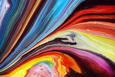 Colourful Rivers of Paint