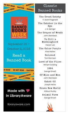 """You can never have too many bookmarks! Use LibraryAware's classic banned book lists to ignite excitement with your patrons. Search Bookmarks for """"banned"""" to get started."""