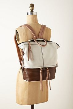Leather backpack love | anthropologie
