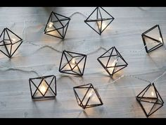"""Himmeli """"diamonds"""" out of straw Diy Straw, Handmade Ornaments, Geometric Designs, Diy Room Decor, Home Decor, Diy Gifts, Decoration, Diy And Crafts, Christmas Crafts"""