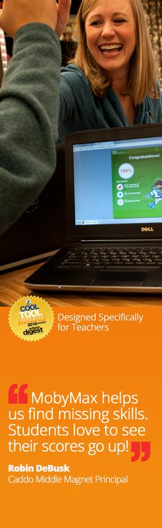 Discover the most effective, efficient system for closing the learning gap for each student while making sure the whole class progresses through the curriculum.  MobyMax is a FUN and FREE tool that finds and fixes learning gaps with the power of personalized learning in all K-8 subjects including math, reading, language, writing, science, social studies, and more. MobyMax is specifically designed for teachers.