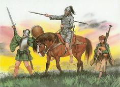 Derrick's The Image of Irelande & Irish Clothing Larp, Irish Costumes, Irish Clothing, Renaissance, Irish Warrior, Celtic Warriors, Landsknecht, Historical Art, Irish Men