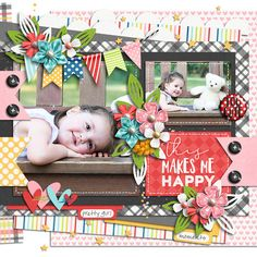 Paper Play 25 Templates, Photo Of The day Collection by Akizo Designs for Digital Scrapbooking Layout Page Baby Scrapbook, Scrapbook Paper, You Are My Favorite, My Favorite Things, Digital Scrapbooking Layouts, Scrapbook Layouts, Good Press, Scrapbook Templates, Scrapbooks