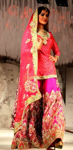 Stunning Sharara Design By Ekta Solanki S/S 2012 BridalWear