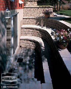 Concrete masonry & landscaping design portfolio | Permacon. Better have some good drainage!