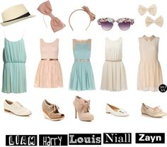 """Date with One Direction"" by astrimaulinda ❤ liked on Polyvore"