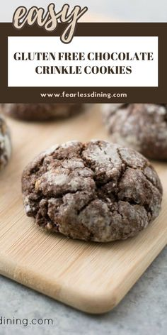 Don't you want a bite of these Gluten Free Chocolate Crinkle Cookies? Soft cookies with a sugary glaze outside. This cookie recipe is easy to make with these step by step instructions. Recipe at www.fearlessdining.com #chocolatecookies #glutenfreecookies #crinklecookies Best Gluten Free Cookie Recipe, Gluten Free Treats, Gluten Free Desserts, Chocolate Crinkle Cookies, Chocolate Crinkles, Cookies Soft, Gluten Free Chocolate Cake, Chocolate Desserts, Gluten Free Christmas Cookies