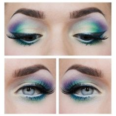 Analogous eye shadow: made up of 3-4 hues found net to one another in the color wheel.