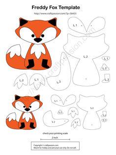 Fox with felt pattern