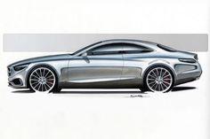 Mercedes-Benz S-Class Coupe Concept Design #car #cardesign #designsketch #design #Mercedes #Benz #SClass #Coupe