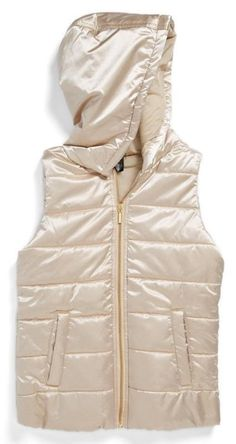 Shiny Hooded Vest
