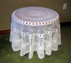 Vintage crochet tablecloth,round lace tablecloth,cottage charm,Wedding…