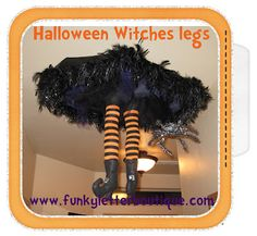 The Funky Letter Boutique: Halloween witch falling from the ceiling! Tutorial