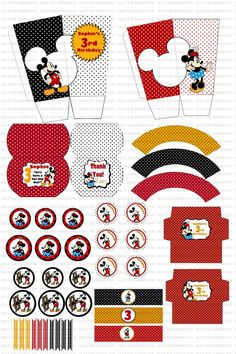 DIY Mickey Mouse Birthday Party Printables