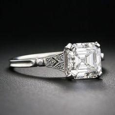 2.00 Asscher-Cut Diamond Engagement Ring - 10-1-6105 - Lang Antiques