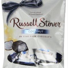 Russell Stover Coconut in dark chocolate . Low cal-high fiber snack. 1 pieces=67cals with .7g fiber.  I have many more low-calorie high-fiber food like this on my free Pinterest acct called Global Transformation Project #loseit #fiber #fibre #lowcal #lowcarb #lowcalorie #darkchocolate #chocolate #loseweight #weightloss #weightlossjourney #health #healthyeating #healthychoices #cocunut #fibre #fiber