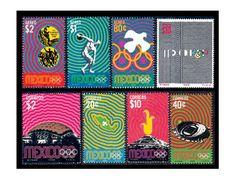 Artículo: Lance Wyman. Lance Wyman, Mexico 68, Mexico Olympics, Stamps, Design, Tattoo Wave, October 2, Childhood Memories, Icons