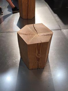 Hexa wood stool