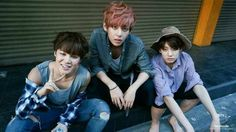 """""""Pretty Beggars"""" photo concept from Thailand episode. Jimin Jungkook and Taehyung"""