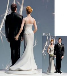 Bride and groom wedding cake toppers are favorites for wedding cakes. Picking the perfect wedding cake topper is important because it becomes a treasured souvenir. Cute Wedding Ideas, Trendy Wedding, Dream Wedding, Wedding Inspiration, Purple Wedding, Funny Wedding Cake Toppers, Wedding Topper, Funny Cake Toppers, Offbeat Bride