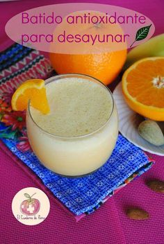 Batido antioxidante para desayunar,