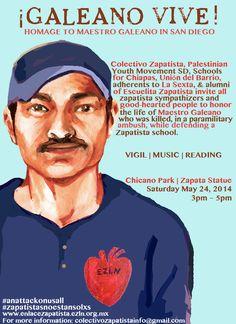 e-learning, conocimiento en red: No nos interesa... Colectivo abajo en el desierto. EZLN. Escuelitas Zapatistas ... Galeano en la Realidad ... asesinado maestro