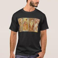 The Four Seasons Art Nourveau T-Shirt - retro gifts style cyo diy special idea