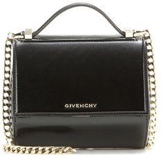 923b4fbc06c2d Givenchy Pandora Box Chain Patent Leather Shoulder Bag - ShopStyle