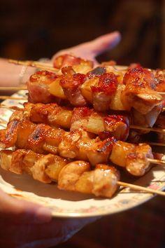 Teriyaki Chicken Bacon Skewers #recipe