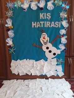 Öznur hoca Class Bulletin Boards, Language School, Winter Camping, Child Development, Diy And Crafts, Christmas Crafts, Preschool, Nursery, Classroom