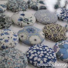 A small bite of mondocherry: liberty print buttons...