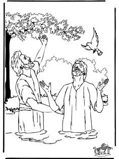 Baptism Coloring Page Jesus