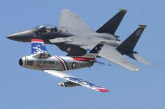 F-15E STRIKE EAGLE & F-86 SABRE PART OF THE USAF HERITAGE FLIGHT TYNDALL AIRSHOW | Flickr - Photo Sharing!