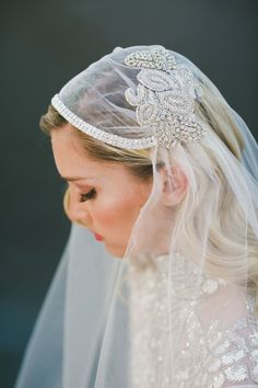 20 Perfect Hair Accessories for the 1950s Loving Bride - Juliet Cap Veil by Veiled Beauty
