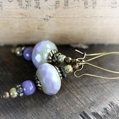 French Lavender Earrings