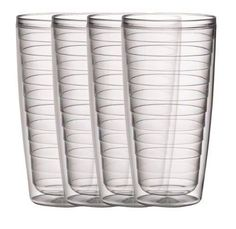 Boston Warehouse Clear 24-Ounce Insulated Tumbler, Set Of 4 By Boston Warehouse