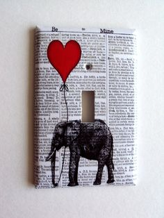 Great for college dorm rooms or bedrooms... i rather do a collage with modge podge and paint then have this as a light switch...