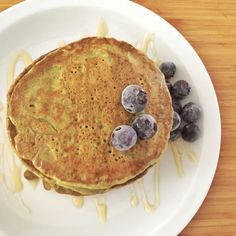 This divine Matcha Green Tea Vegan Pancake Recipe is a guest post from the talented Sarah She…