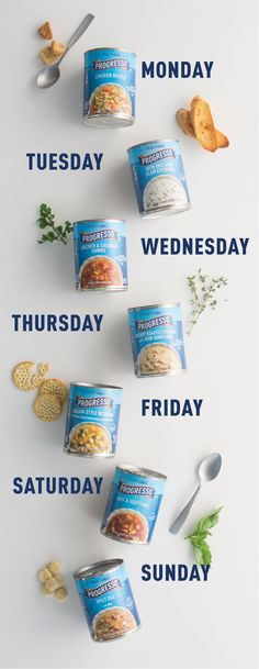 Soup du jour! Easy lunch or dinner ideas for any day of the week. Perfect for packing lunches, a quiet weeknight dinner, or cozying up in cold weather.